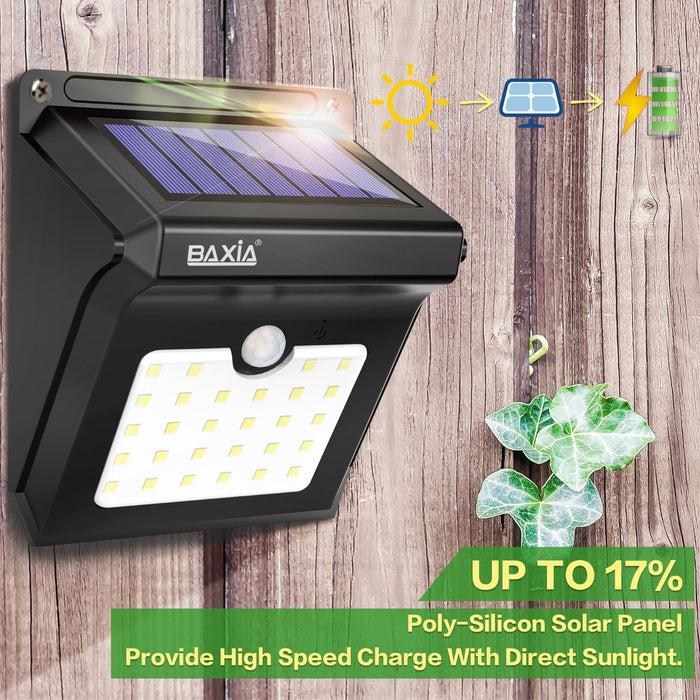 Solar Lights Outdoor,Wireless 28 LED Solar Motion Sensor Lights,Waterproof
