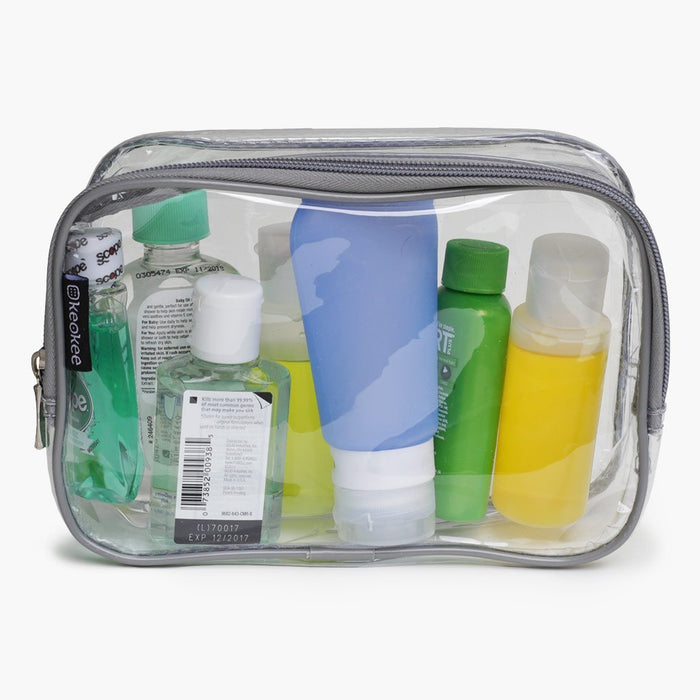 Clear Toiletry and Cosmetics Bag