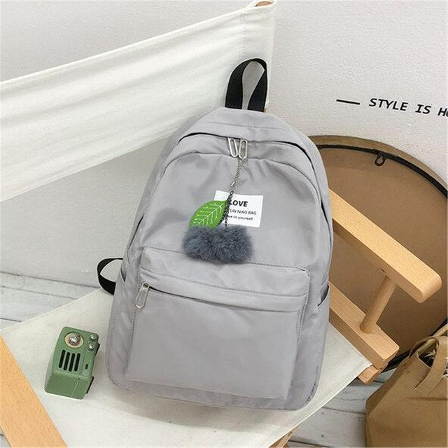 Backpack Women School Bags Rucksack Mochilas Green
