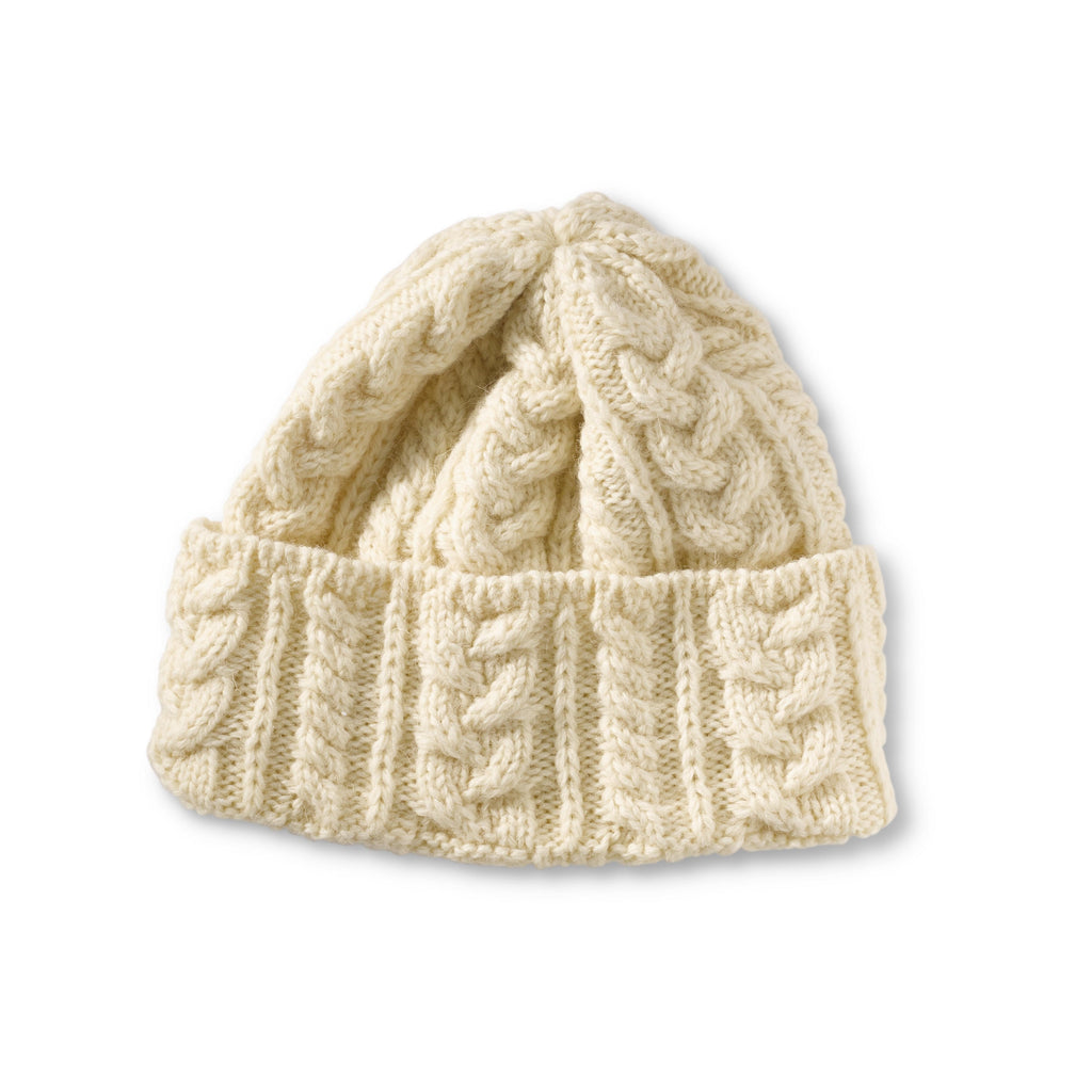 Traditional Natural Aran Beanie