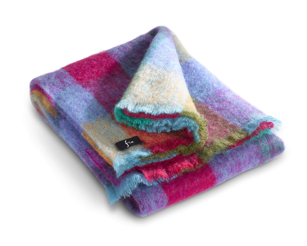 "Mohair Wool Throw 54"" x 72"" - Coliemore"