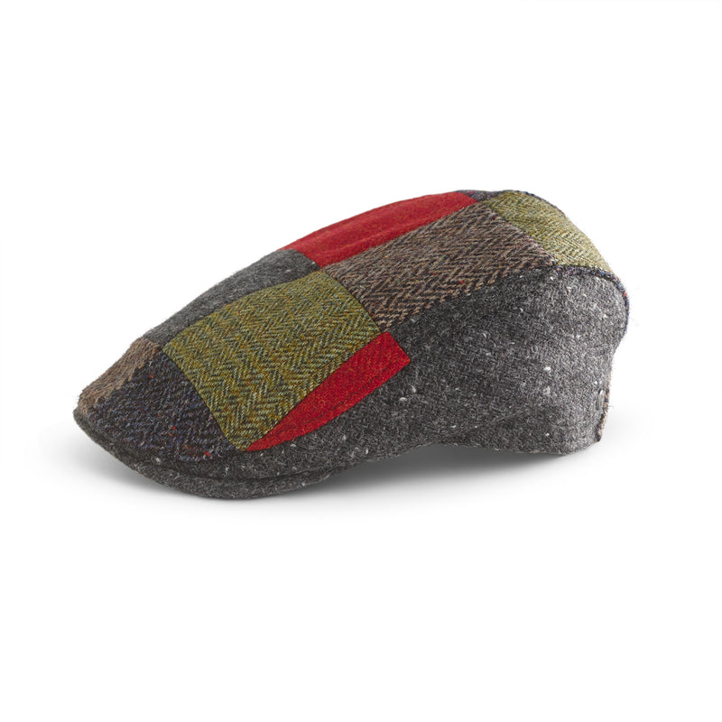 Tweed Tailored Patchwork Cap