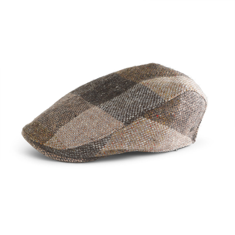Tweed Cap Brown Check