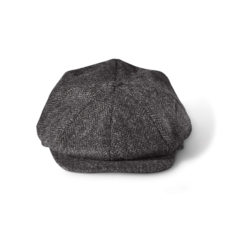 8 Panel Cap Grey Herringbone