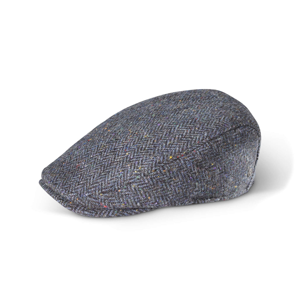 Tweed Cap Navy Herringbone