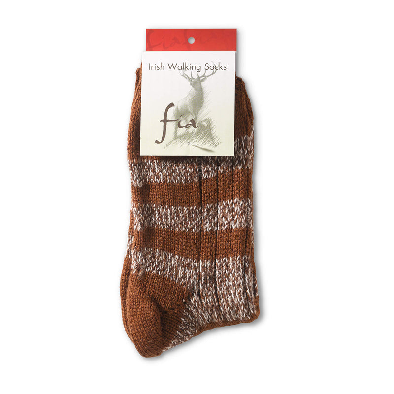 Walking Socks Stripes - Beige