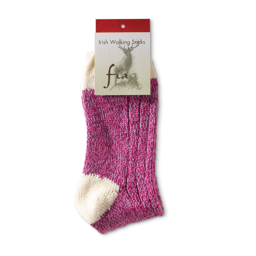 Top Heel Toe Socks - Pink/Purple