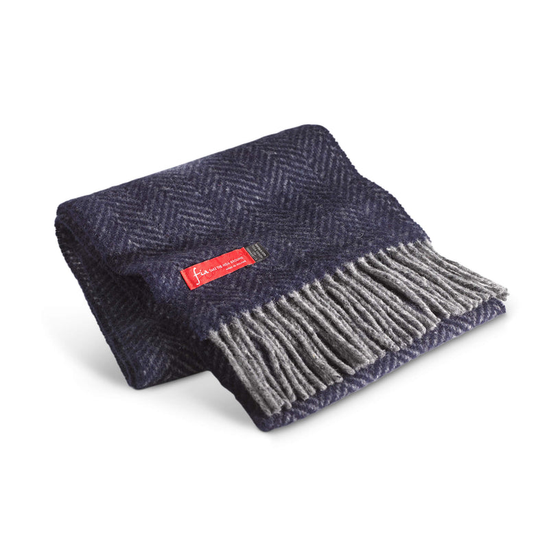 Merino wool scarf with cashmere 9