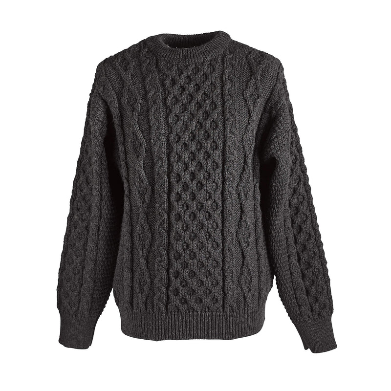 Wool Aran sweater - Charcoal