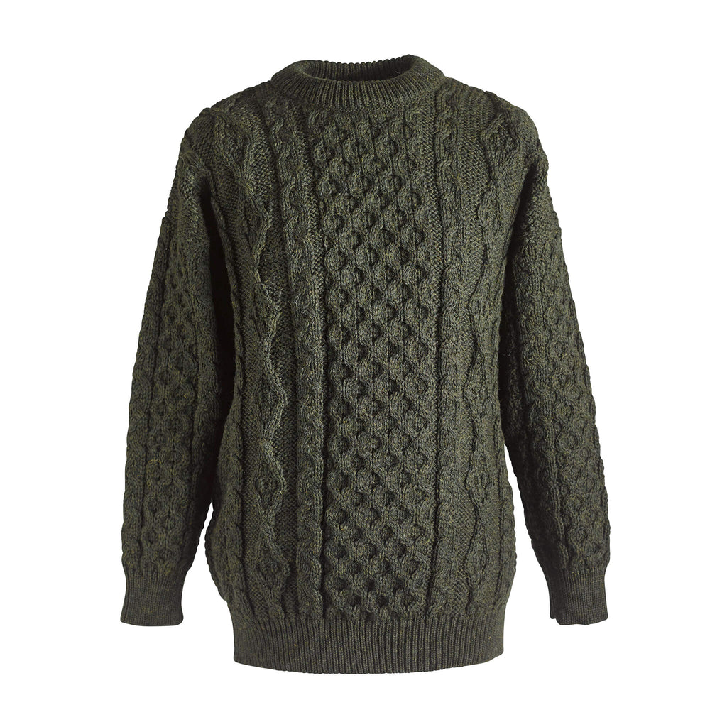 Wool Aran sweater - Green