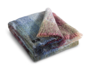 "Mohair Wool Throw 54"" x 72"" - Ocean"