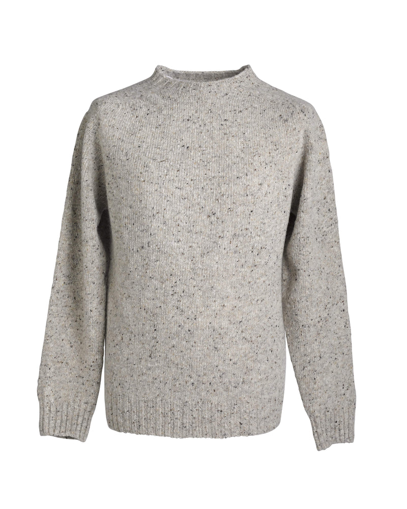 Donegal yarn crewneck sweater Oatmeal