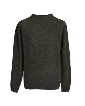 Donegal yarn crewneck sweater Carrigeen