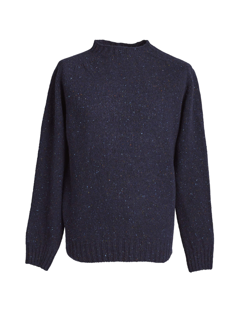 Donegal yarn crewneck sweater Storm
