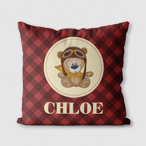 Pilot Bear Custom Pillow—Personalized Gift