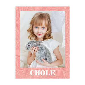 Sweet Moment Customized Photo & Name Fleece Blanket for Girls