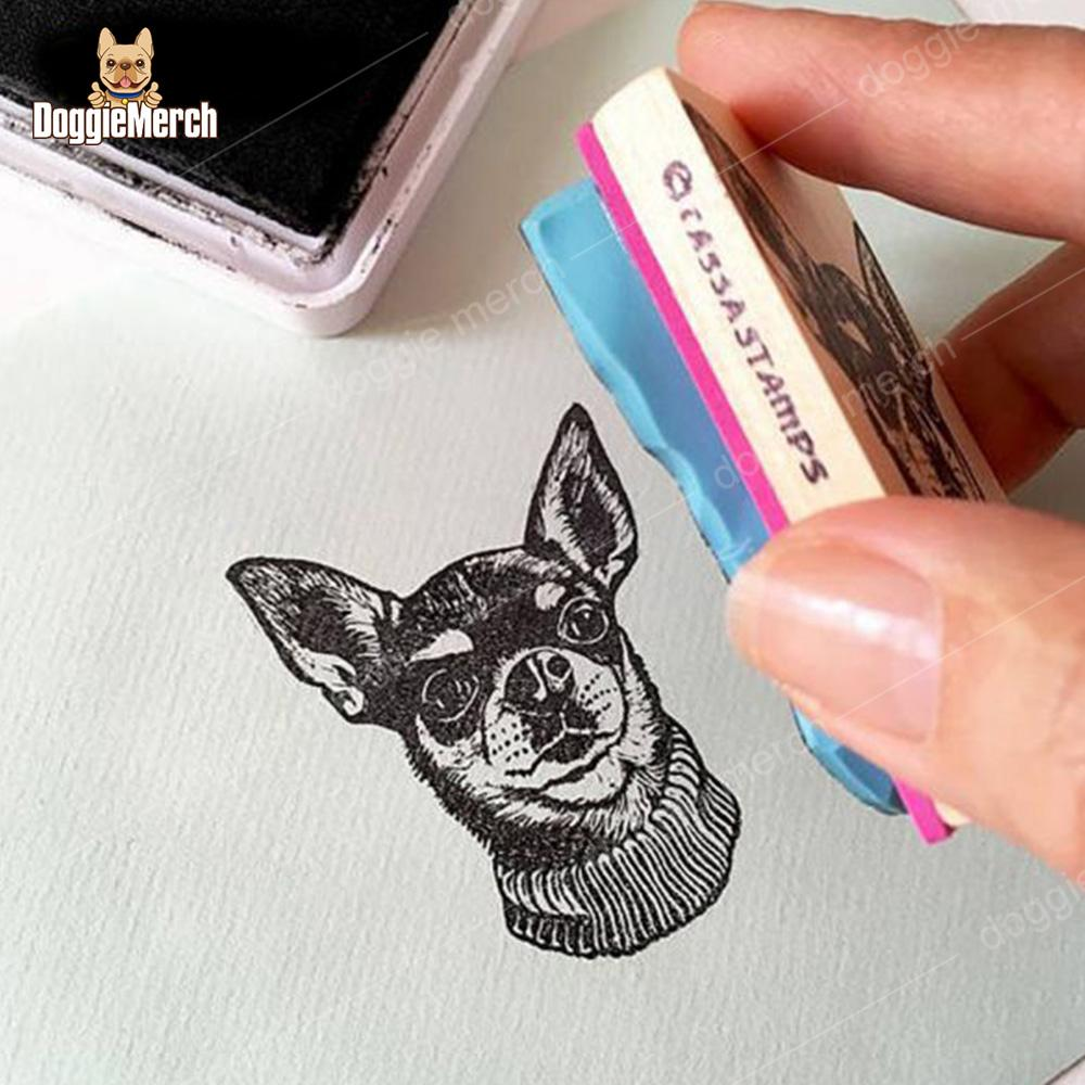 Custom Portrait Stamp of Your Pet's Face