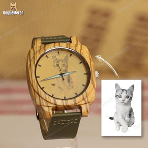 Personalized Wooden Watch of Your Pet's Photo