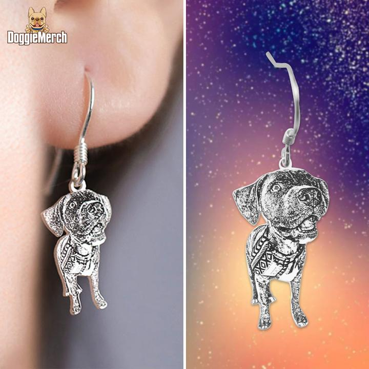 Custom Pet Portrait Earring