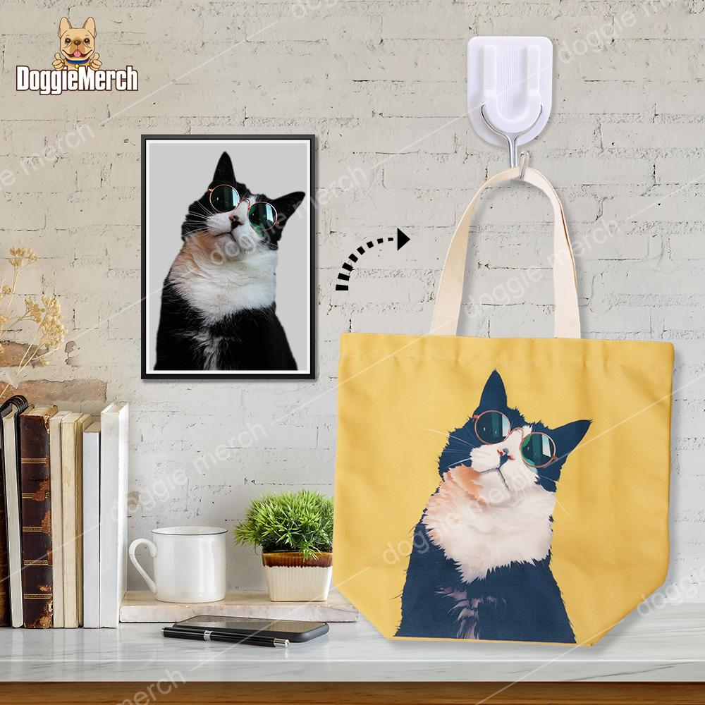 Custom Art Tote Bag of Your Pet-7 Colors Available