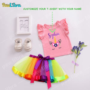 custom Unicorn Party Outfit For Girls