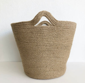 Bag/ Basket  - Natural Jute with Handles