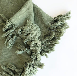 Throw - Olive Vintage wash