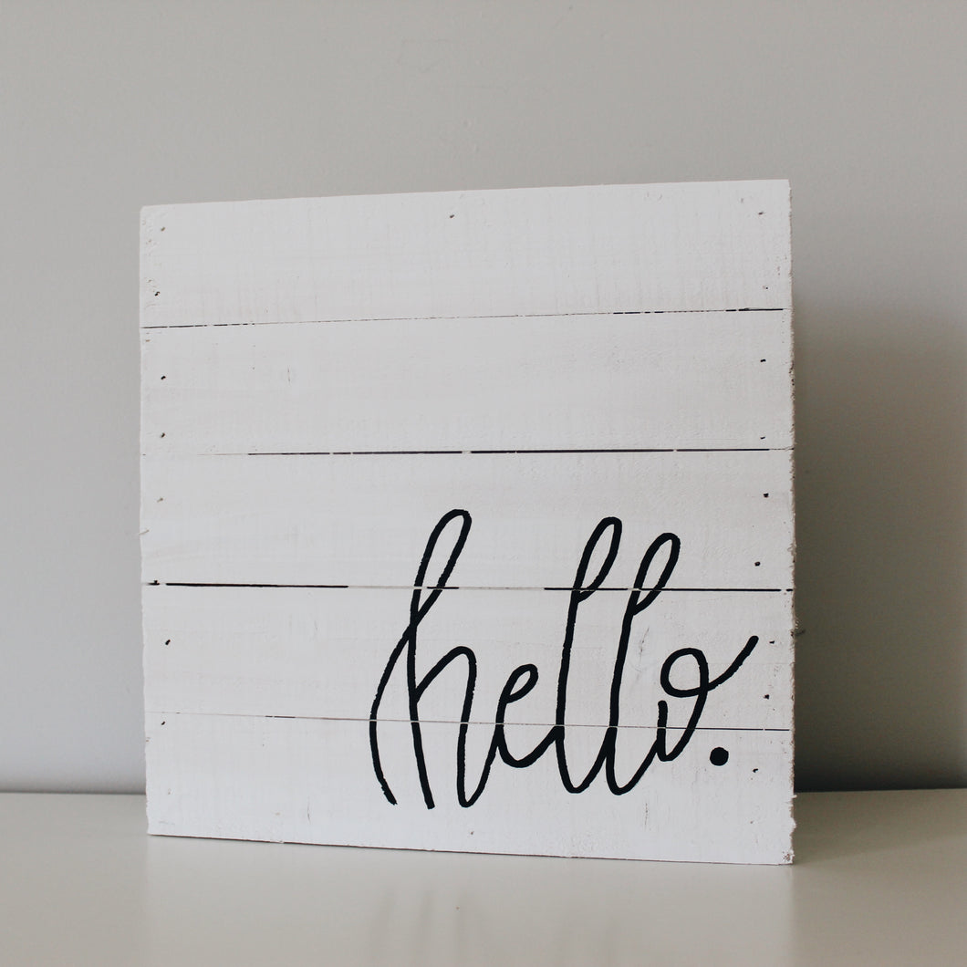 Hello Palette Sign