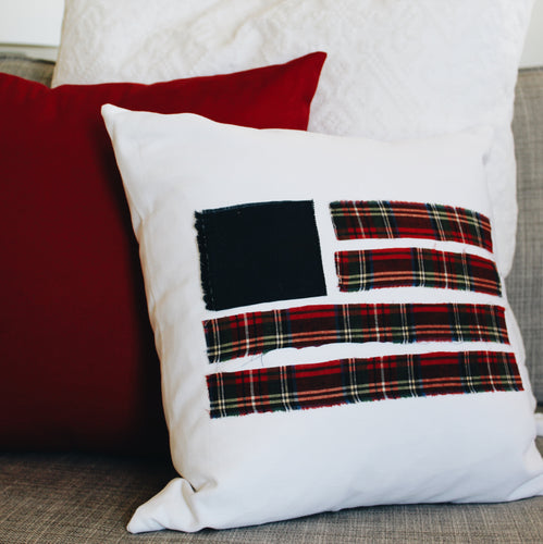 Plaid Flag Pillow