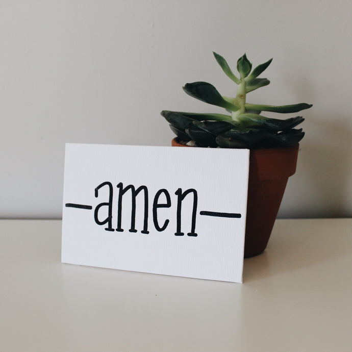 Amen Canvas Sign