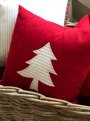 Striped Christmas Tree Pillow