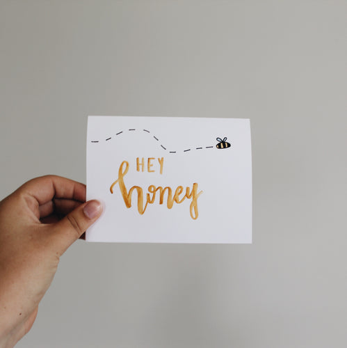 Hey Honey Greeting Card