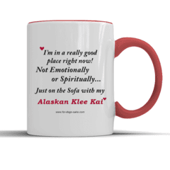 For Dogs Sake! Default Title Alaskan Klee Kai Red Place Mug