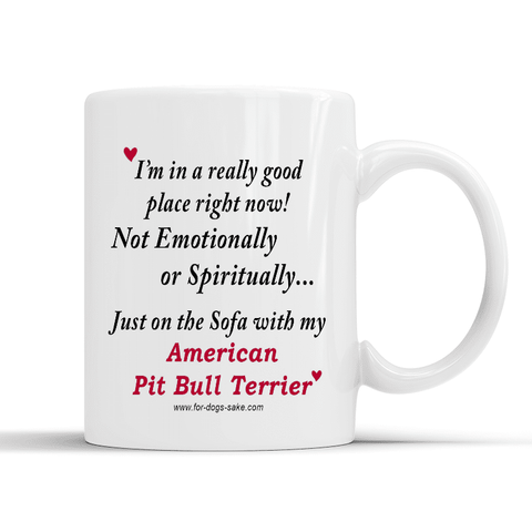 For Dogs Sake! Default Title American Pit Bull Terrier White Place Mug