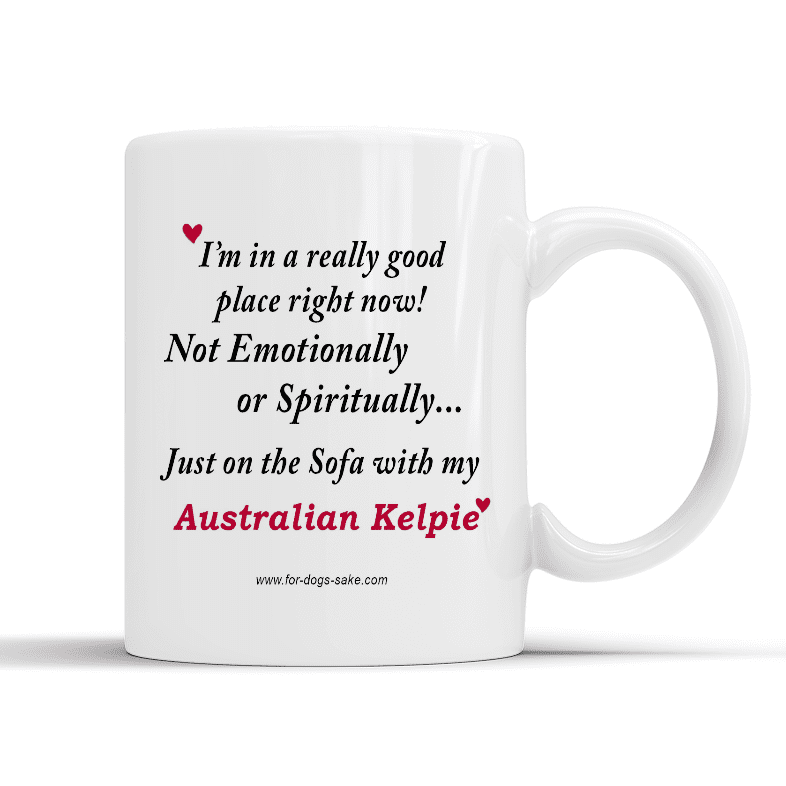 For Dogs Sake! Default Title Australian Kelpie White Place Mug