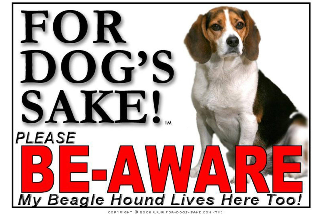 For Dogs Sake! Image1 / Foamex PVCu Beagle Hound Be-Aware Sign