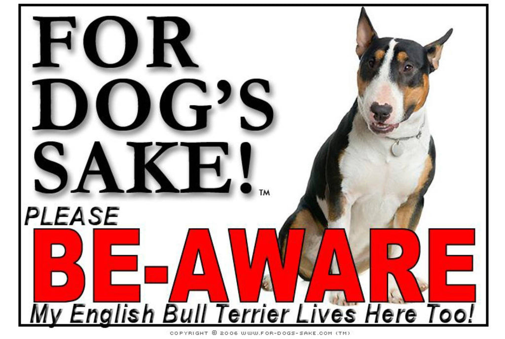 For Dogs Sake! Image4 / Adhesive Vinyl English Bull Terrier Sign