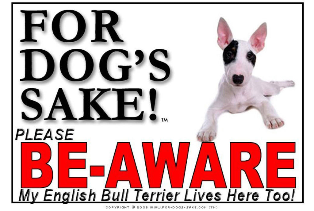 For Dogs Sake! Image5 / Adhesive Vinyl English Bull Terrier Sign