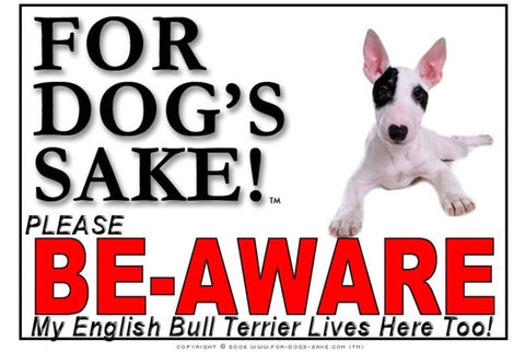 Image of For Dogs Sake! Image5 / Adhesive Vinyl English Bull Terrier Sign