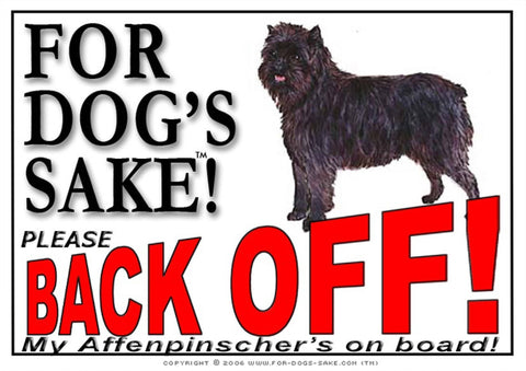 For Dogs Sake! Image1 / Adhesive Vinyl Affenpinscher Back Off Sign