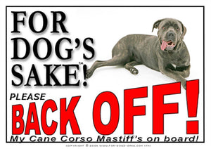 For Dogs Sake! Image1 / Adhesive Vinyl Cane Corso Mastiff Back off Sign