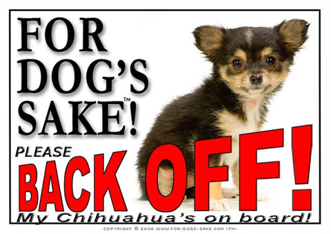 For Dogs Sake! Image16 / Adhesive Vinyl Chihuahua Back off Sign