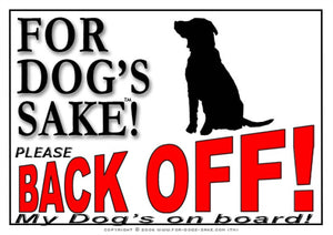 For Dogs Sake! Image1 / Adhesive Vinyl Dog Back off Sign
