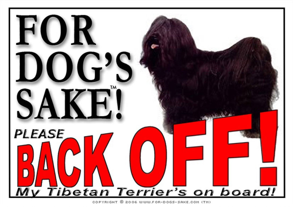 For Dogs Sake! Image1 / Adhesive Vinyl Tibetan Terrier Back Off Sign