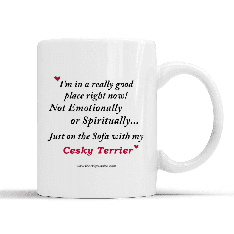 For Dogs Sake! Default Title Cesky Terrier White Place Mug