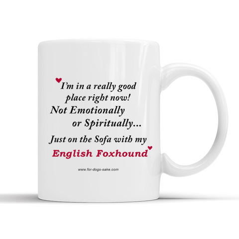 For Dogs Sake! Default Title English Foxhound White Place Mug