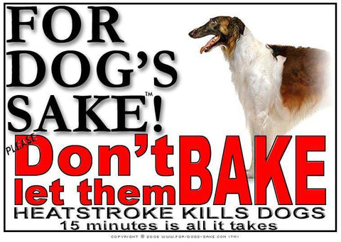 For Dogs Sake! Download Default Title Borzoi Heatstroke Warning Sign (Download)