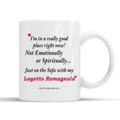 For Dogs Sake! Default Title Lagotto Romagnolo White Glossy Mug