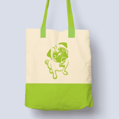 For Dogs Sake! Default Title Pug Green Stylish Shopping Bag by For Dogs Sake!®
