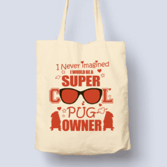 For Dogs Sake! Default Title Pug Super Owner Shopping Bag by For Dogs Sake!®
